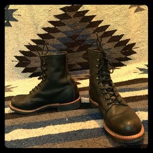 Retro Black Red Wing Boots
